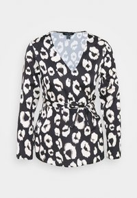 New Look Petite - MIA ANIMAL BELTED SHELL - Blouse - black - 4