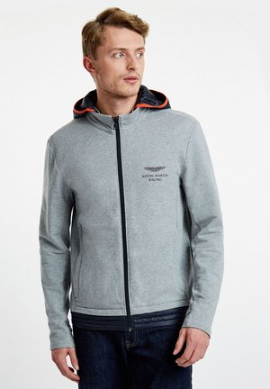 AMR TRAVEL HOODY - Zip-up hoodie - grey marl