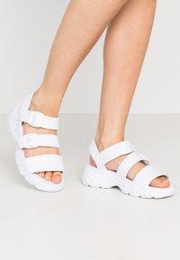 Skechers Sport - CALI - Platform sandals - white - 0