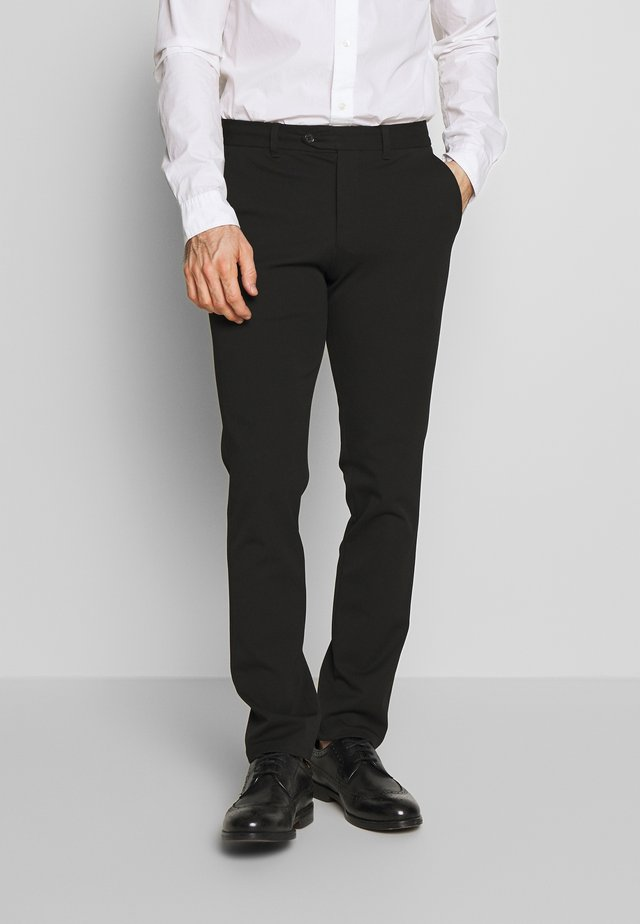 SLHSLIM-CARLO FLEX PANTS - Broek - black