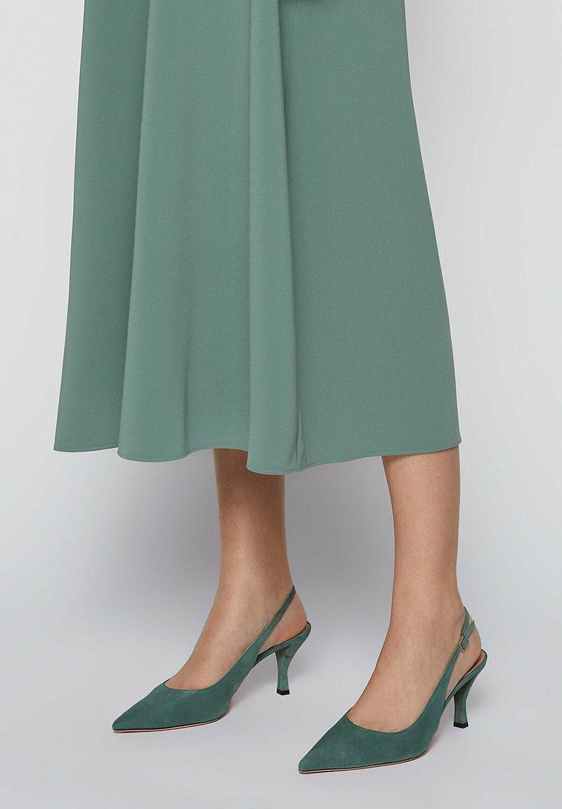 BOSS - OLIVIA SLING - Slingback ballet pumps - light green