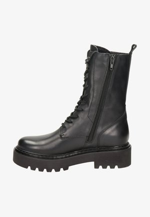 Platform ankle boots - zwart