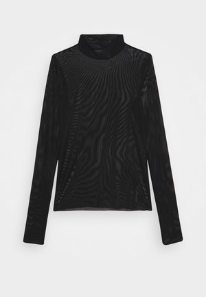 FIONA TURTLENECK PRINT - Long sleeved top - black