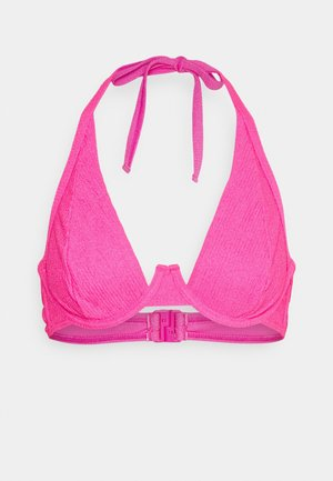TEXTURED SCRUNCH FABRIC HIGH APEX - Bikini pezzo sopra - pink