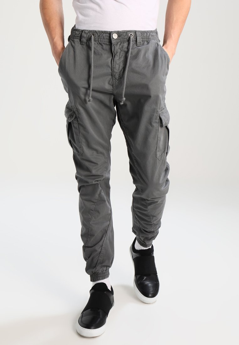 Urban Classics - JOGGING - Cargo trousers - darkgrey