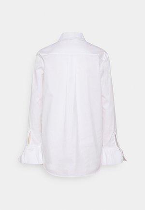 FLOUNCE CUFF ORGANIC SHIRT - Košile - white