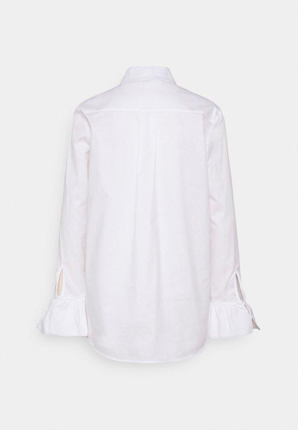 Victoria Victoria Beckham FLOUNCE CUFF ORGANIC SHIRT - Koszula - white/biały CFNK