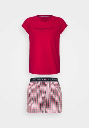 ORIGINAL CHECK SHORT SET - Pyjama set - primary red/gingham