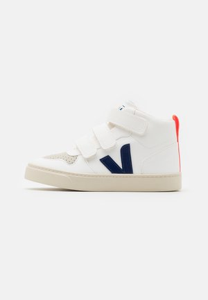 SMALL MID UNISEX - High-top trainers - white/cobalt/orange fluo