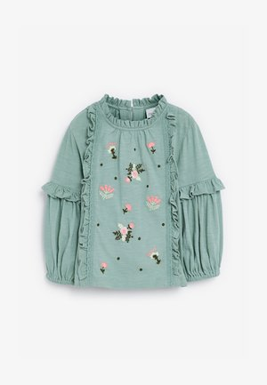 EMBROIDERED PUFF SLEEVE  - Blouse - green