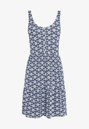 Korte jurk - mottled blue