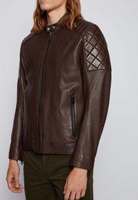 BOSS - JEEAN  - Leather jacket - dark brown - 3