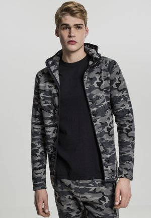 INTERLOCK CAMO ZIP  - Kofta - green