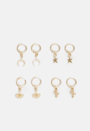 PCLONDYNA EARRINGS 4 PACK - Oorbellen - gold-coloured