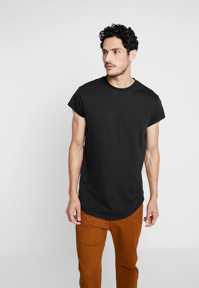 Pier One - Jednoduché triko - black