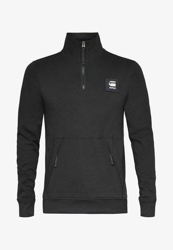 HALF ZIP TRACK TWEETER - Long sleeved top - dk black