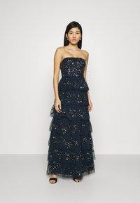 Maya Deluxe - EMBELLISHED STRAPLESS TIERED MAXI DRESS - Společenské šaty - navy - 0