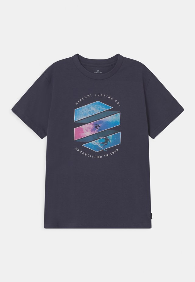 ACTION SHOT - T-shirt print - navy