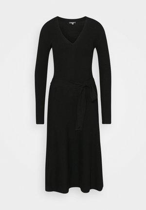 DRESS - Gebreide jurk - deep black