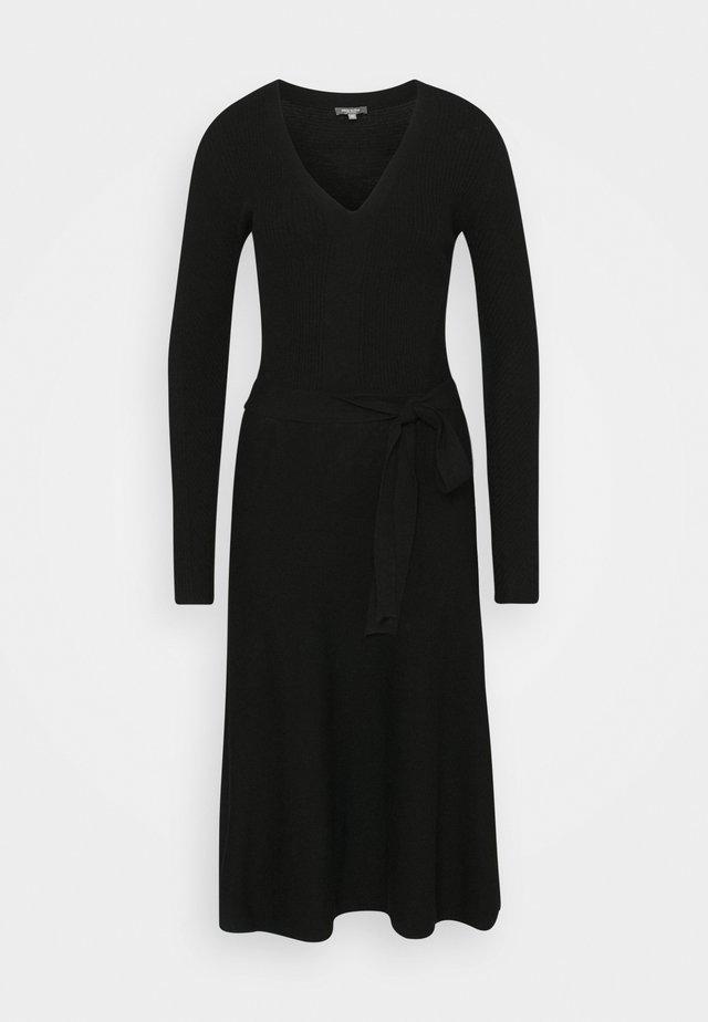 DRESS - Pletené šaty - deep black
