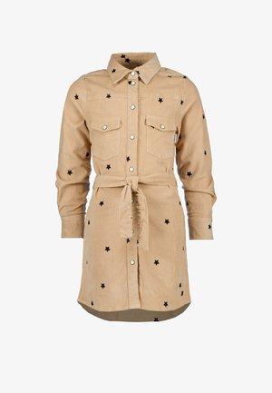 Shirt dress - hazel brown