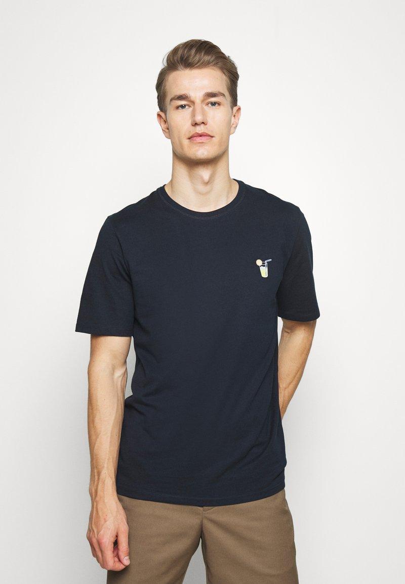Selected Homme - SLHFRESNO  - Basic T-shirt - sky captain