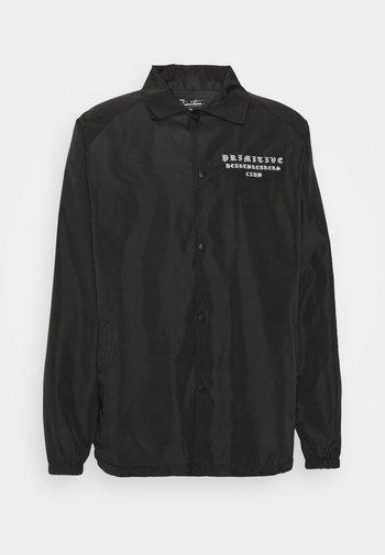 BANDANA COACH JACKET - Summer jacket - black