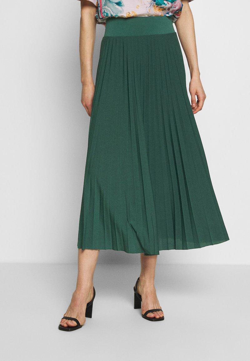 Anna Field - Plisse A-line midi skirt - Áčková sukně - teal