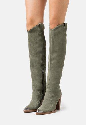 NEW AMERICANA - High heeled boots - khaki