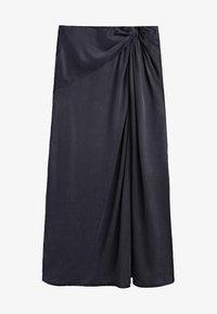 Massimo Dutti - A-line skirt - dark blue - 3