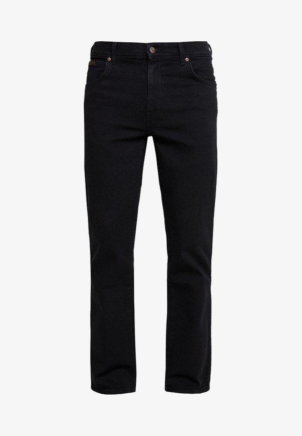 Wrangler TEXAS STRETCH - Jeansy Straight Leg - black overdye/czarny denim Odzież Męska FMLH