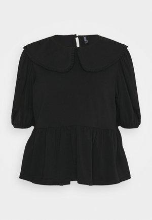 ONLLIVE LOVE COLLAR - Basic T-shirt - black