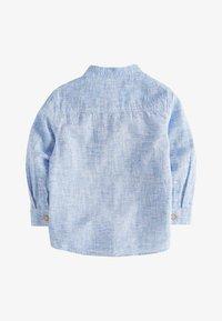 Next - BLUE LONG SLEEVE LINEN MIX GRANDAD SHIRT (3MTHS-7YRS) - Shirt - blue - 1