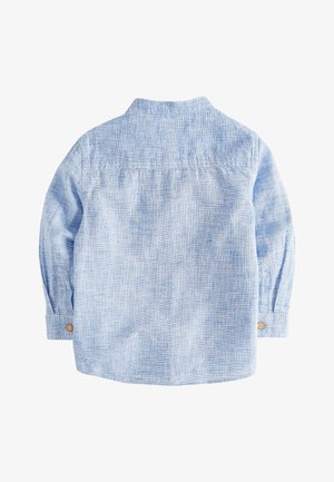 BLUE LONG SLEEVE LINEN MIX GRANDAD SHIRT (3MTHS-7YRS) - Camicia - blue