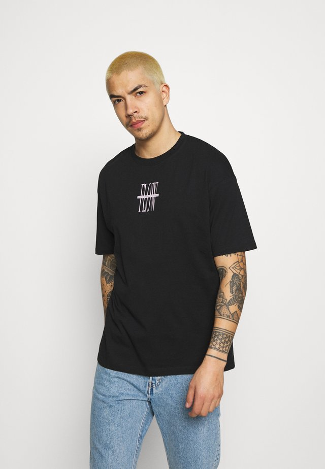 JORSARRISON TEE CREW NECK - Camiseta estampada - black