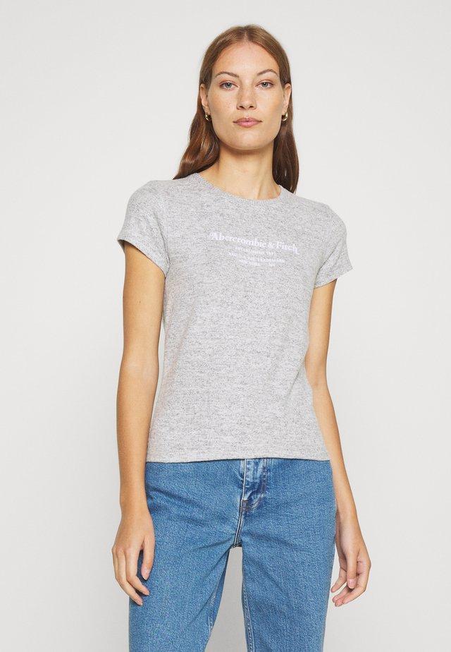 LONG LIFE LOGO - Print T-shirt - grey