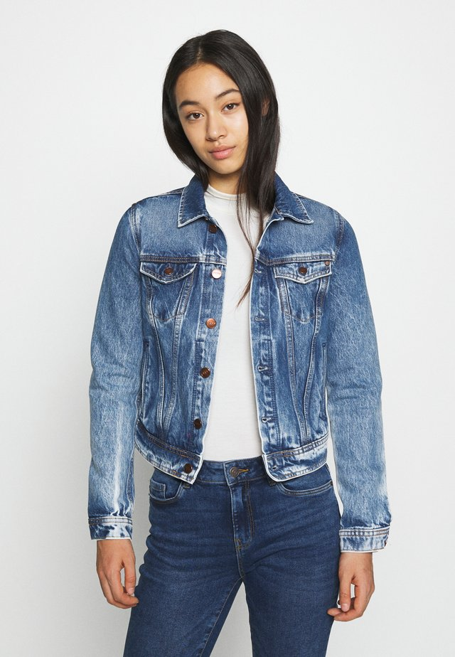 CORE JACKET - Kurtka jeansowa - blue denim