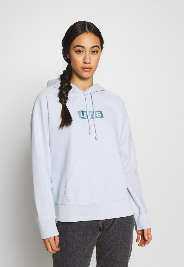 GRAPHIC HOODIE - Jersey con capucha - baby blue
