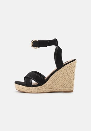 ONLAMELIA LIFE STITCH  - Platform sandals - black
