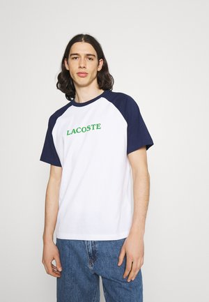 UNISEX - Print T-shirt - white/scille
