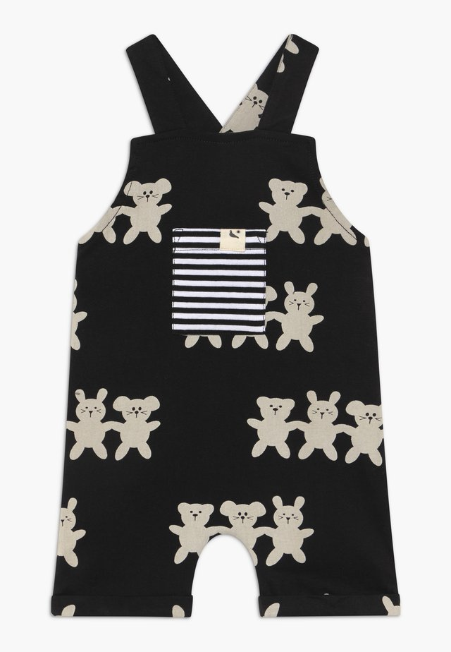 BESTIES SHORTIE DUNGAREES BABY - Salopette - black/white