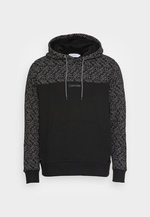 ALLOVER HOODIE - Džemperis ar kapuci - black/dark grey