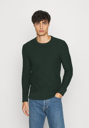 Strickpullover - mottled dark green