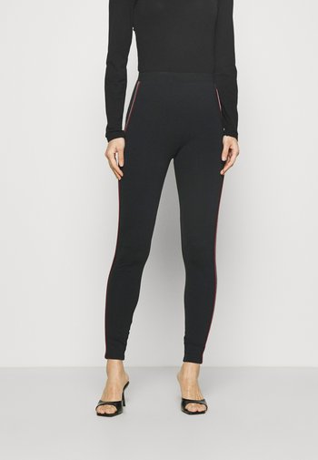 SIDE STRIPE - Leggings - Trousers - black