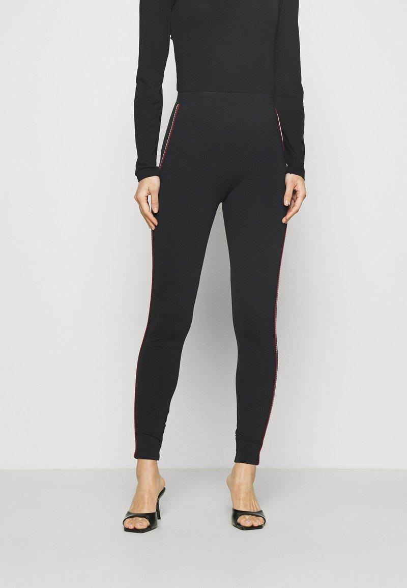 Marks & Spencer London - SIDE STRIPE - Leggings - Trousers - black