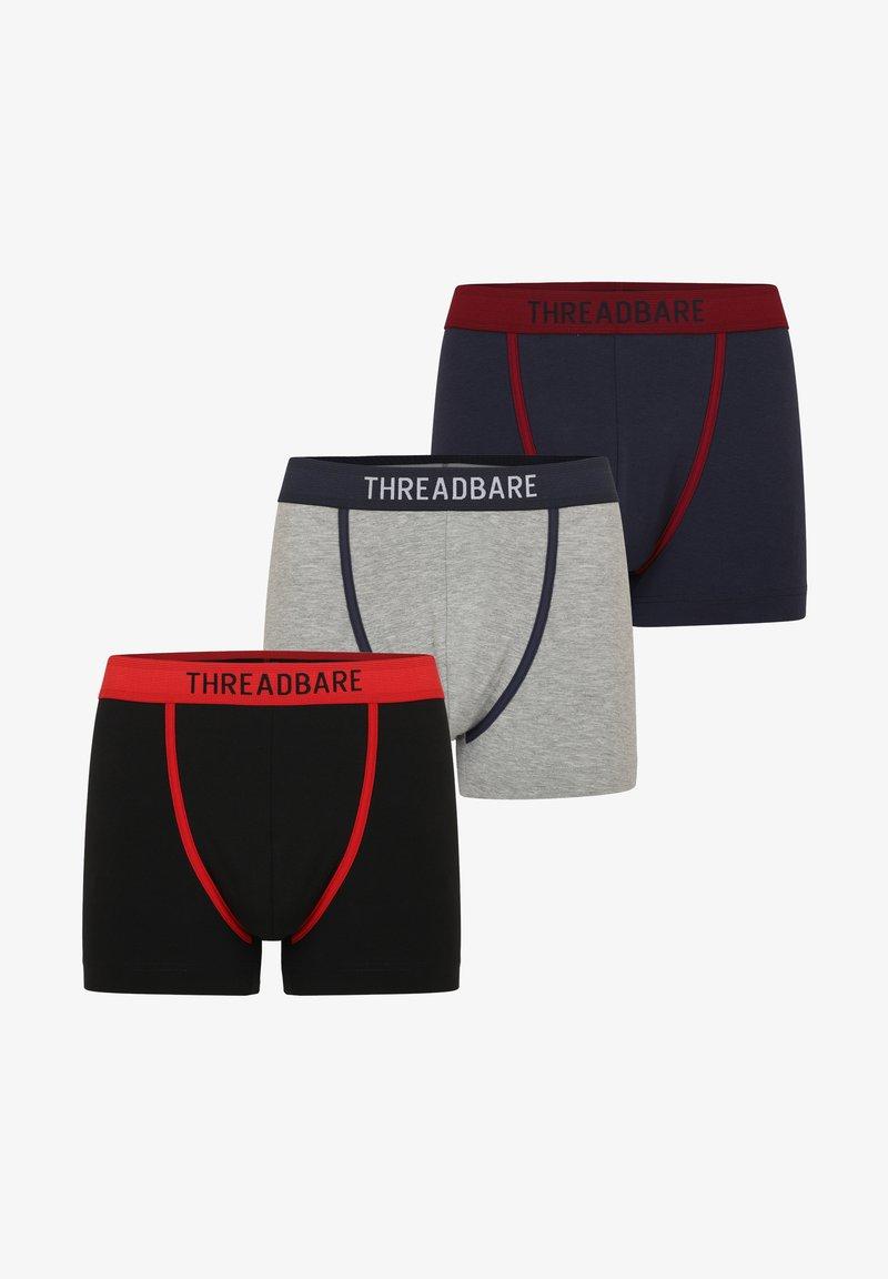 Threadbare - 3PACk - Onderbroeken - schwarz, grau, blau
