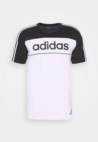 adidas Performance - ESSENTIALS TRAINING SPORTS SHORT SLEEVE TEE - Print T-shirt - black/white - 4