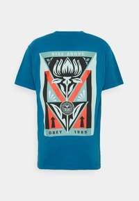 Obey Clothing - DECO FLOWER - Print T-shirt - blue sapphire - 1