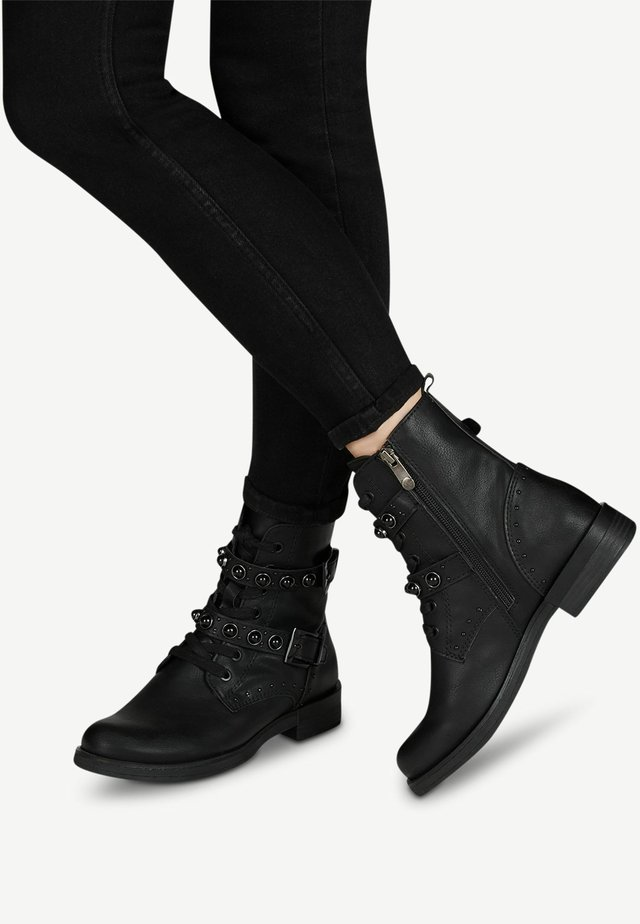 STIEFELETTE - Cowboy/biker ankle boot - black antic