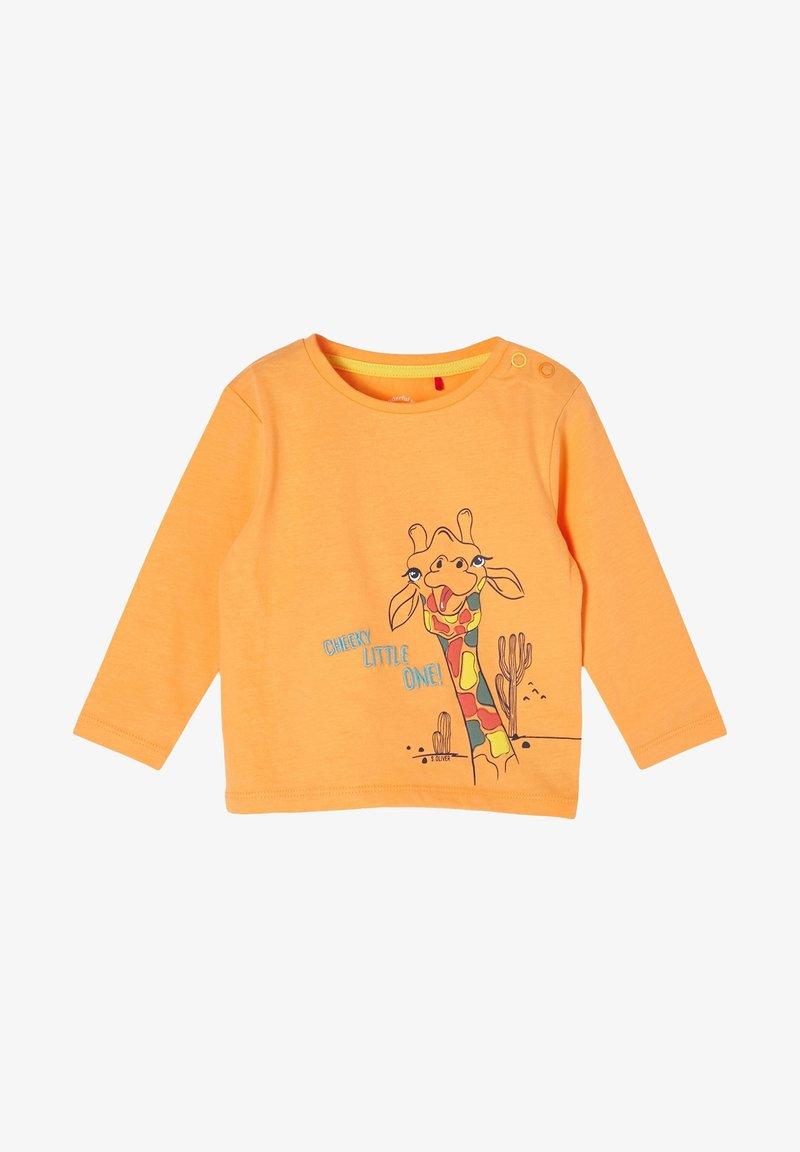 s.Oliver - MIT GIRAFFEN-PRINT - Long sleeved top - light orange